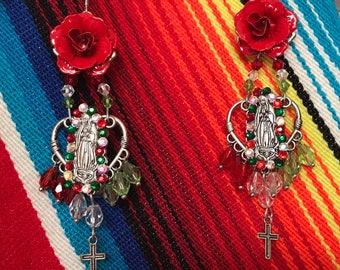Day of the Dead Virgen de Guadalupe Earrings