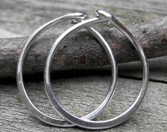 20% OFF Mothers Day Sale One half inch sterling silver hoop earrings