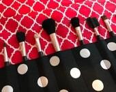 Custom prder for JKWMS10 Makeup brush roll, makeup brush case, crochet hook case, pencil case, crochet hook roll,