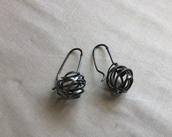 Black Sterling Knots collection earrings