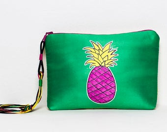 Clutch bag by Marta Fofi, Pineapple bag, hand made bags, hand made purses, clutch bag, clutch handbag, evening clutch