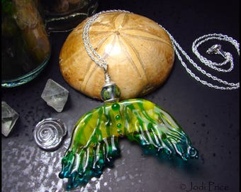 Beadworx - Lampwork and Sterling Mermaid Tail Necklace - Keilani