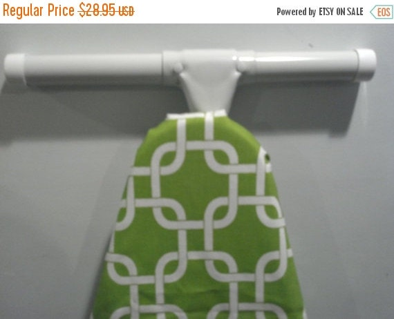 ON SALE TODAY Modern Geometric lime chartreuse and white ironing Board cover Gotcha print