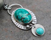 25% Off - Turquoise Sterling Silver Necklace