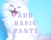 Add Basic Panty To Your Order  - Pick Your Size - Handmade Vegan Bridal