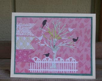 Birds in a Tree All Occasion Handcrafted Card