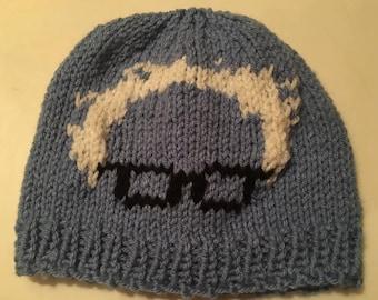 Bernie Sanders child's beanie hand knitted hat.