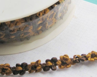 Ribbon Galon Rococo vintage French trimming rosettes x 1 meter Brown