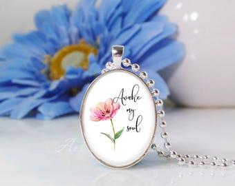 Oval Medium Glass Bubble Pendant Necklace- Awake My Soul