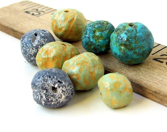 Polymer Clay Roundish Beads