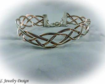 Two Tone Braided Wire Bracelet