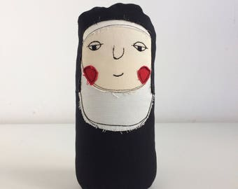 Plush Toy, Rag Doll, Nun, Plushie Doll, Stuffed Doll, Stuffed Toy, Travel Friend, Table Toy, Red Elk Toy, Imaginary Friend, Decorative Toy