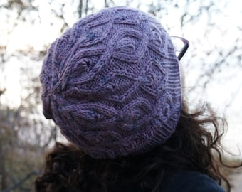 Vines Aflame Knit Slouch Hat