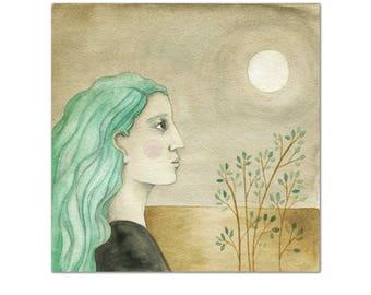 Moon Gaze // archival print