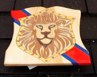 Regal Lion Toy Wooden Shield