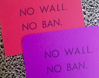 10 postcards no ban no wall political postcard
