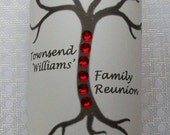 RESERVED FOR Mary - Vellum Candle Luminarie Centerpiece - Family Reunion Tree with Red Rhinestones - Lantern - Luminaria (15)