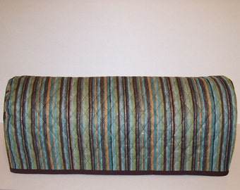 Cricut Dust Cover / Scan-n-Cut Cover / Cricut Machine Cutter Protector / Green / Teal / Brown Stripe With Gold Accents