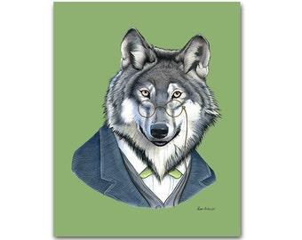 Wolf print 11x14