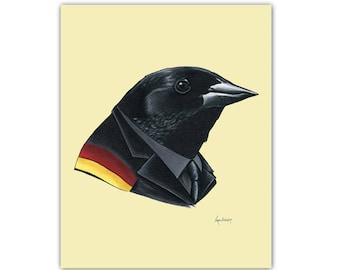 Red-Winged Blackbird art print 5x7