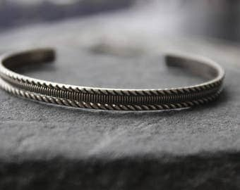 sterling Textured  Bangle bracelets,Layering stacking bangles,  Bangle bracelet, metalwork, open bangle, unisex bracelet