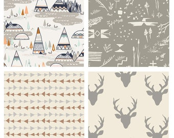 QUILT BUNDLE - Indian Summer - Hello Bear - Art Gallery Fabrics - Bonnie Christine - Tepees Arrows Deer - Woodland Fabric Bundle