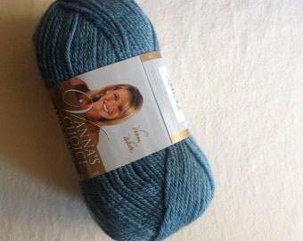 Lion Brand Vanna's Choice worsted weight in dusty blue, destash yarn