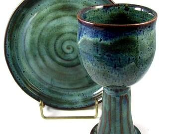 Custom Set for Tamara - Custom and Handmade for You -  For Wedding, Communion or  Kiddush Ceremony - Wheel Thrown Stoneware Pottery