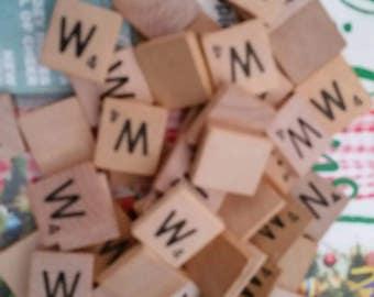 Letter W scrabble letter tiles 50
