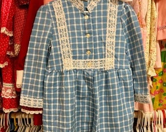 70s Dress Girls 5/6