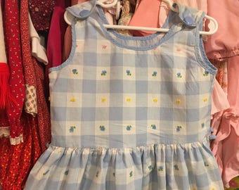 1950s Gingham Dress Girls 4/5