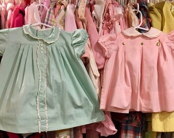 1950s Baby Dress Pair 9/12 Months
