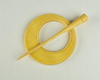 Shawl Pin - Yellowheart