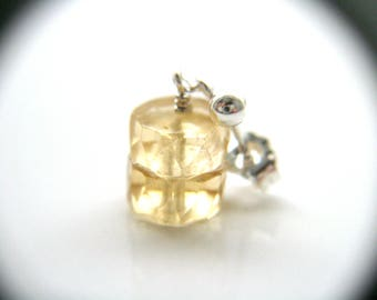 Natural Citrine Crystal Earrings Studs . November Birthstone Jewelry . Raw Citrine Earrings Posts - Moonlight Collection NEW