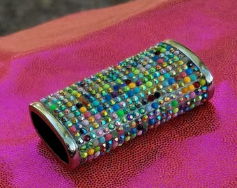 Bic Mini Lighter Case/Rainbow Bling