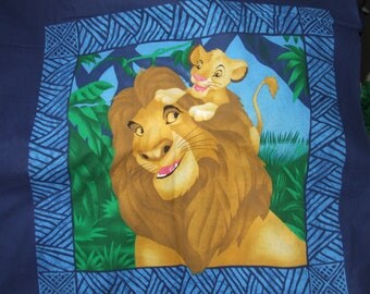 Disney Lion King Fabric Pillow Panels Set of 2 Discontinued Out of Production * Hard To Find *