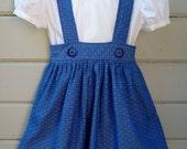 Girls Suspender Skirt Royal Blue size 3T