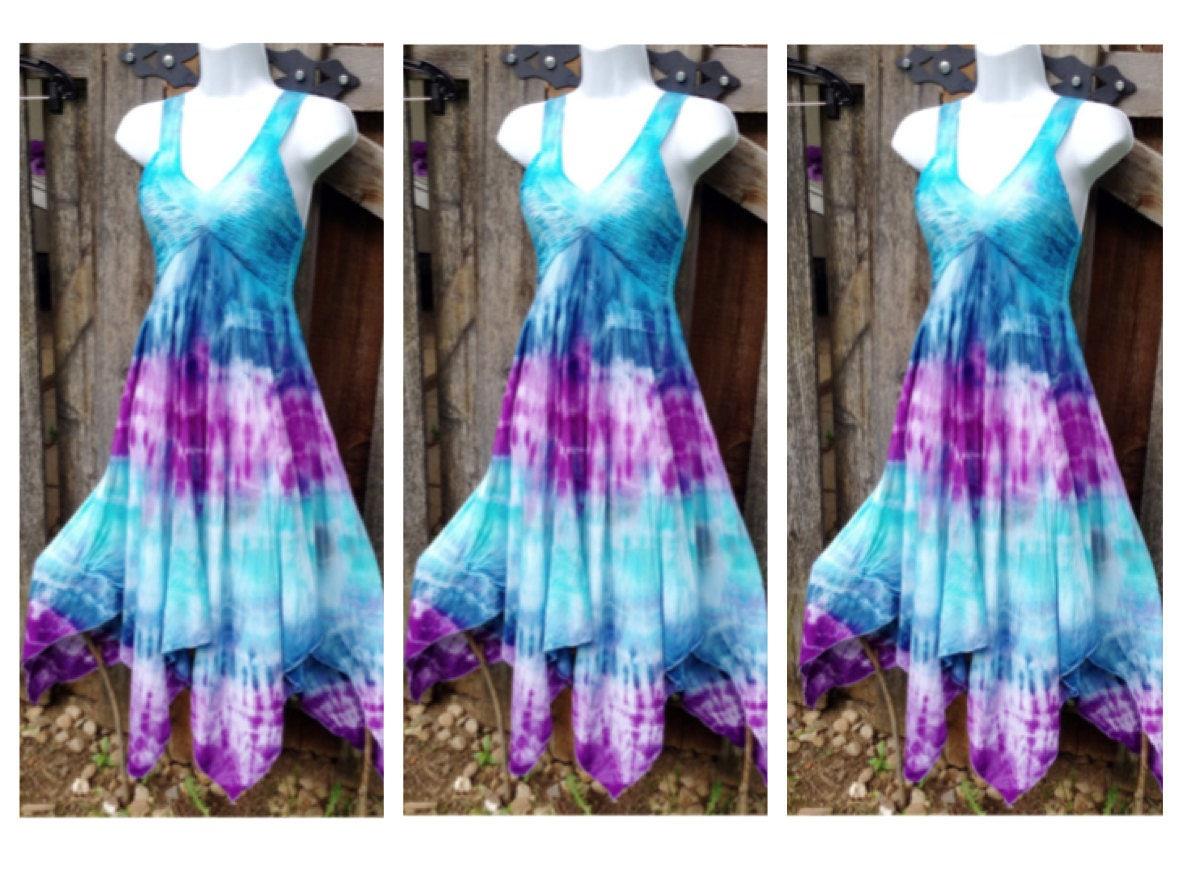 Custom Bridesmaid Tie Dye Dresses Tie dye Prom Dress