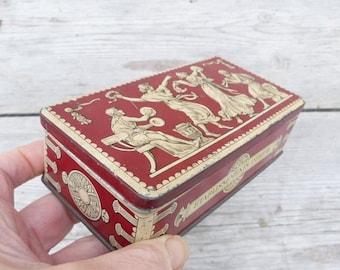 ON SALE 20% Vintage Antique 1900 tin box DEBRAY