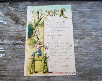 Vintage Antique  1919 French Menu /Menu sheet / Sport thema  Athletisme