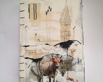 Handbound Journal - There's a cow