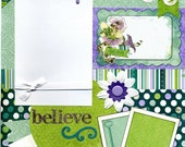 Believe - Premade Scrapbook Page