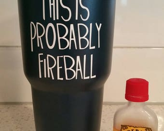 PRIVATE LISTING for ELAN Apts - This Is Probably Fireball Stainless Steel Tumbler - Locals Only