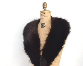 Huge Black Fox fur collar