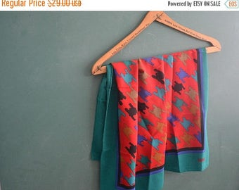 SALE  Vintage Bill Blass silk scarf-designer scarf-square scarf-silk scarf