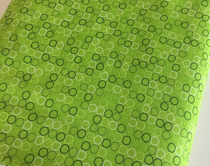 SALE fabric, Polka Dot Fabric, Spot On Fabric by Robert Kaufman, Fabric Shoppe Fabrics- Spot On Circles in Lime, Choose the cut