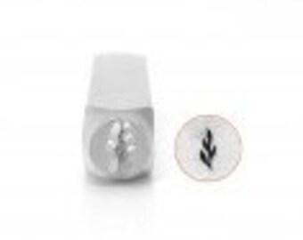 Design Stamp - SKINNY LEAF - 6mm stamped image by ImpressArt -  includes How to Stamp Metal tutorial