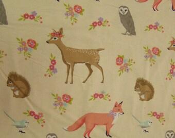 Pretty Woodlands Flannel Fabric