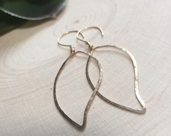 14K Gold-Filled Organic Leaf Earrings as seen on GMA