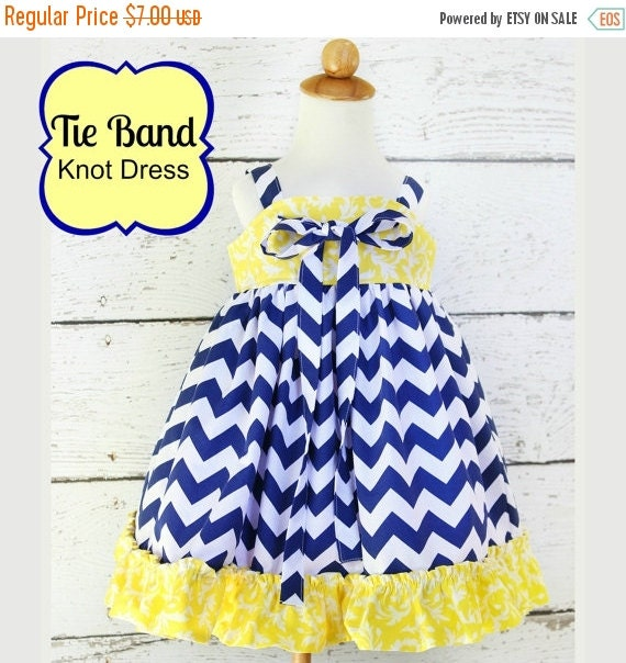 35% OFF Tie Band Knot Top or Dress sizes nb through 12 girls PDF Whimsy Couture Sewing Pattern Tutorial